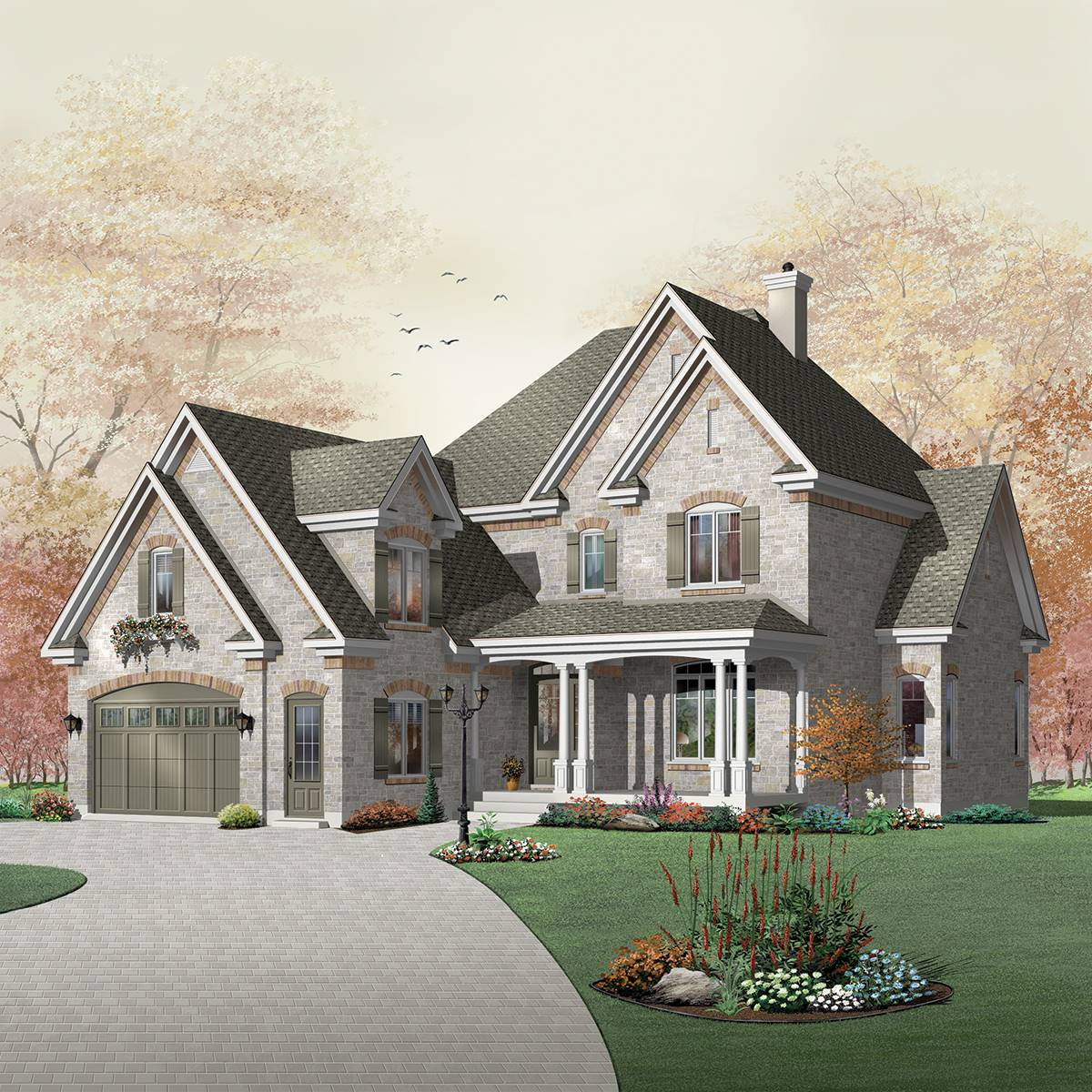 Front image of Farrington House Plan