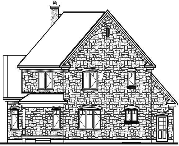 Rear image of Farrington House Plan