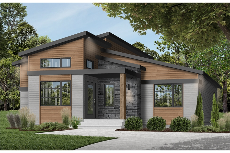 House Plan 7387: One Bedroom Contemporary
