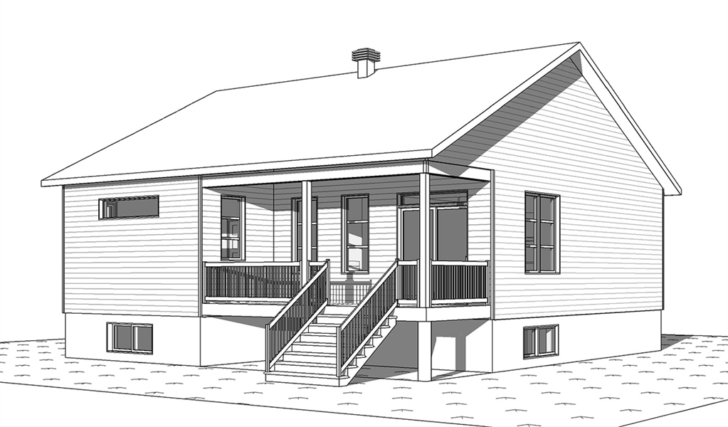 Rear image of Chai House Plan