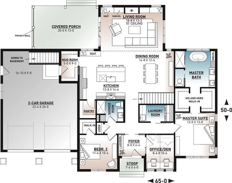 1st Floor Plan image of Maple Way House Plan
