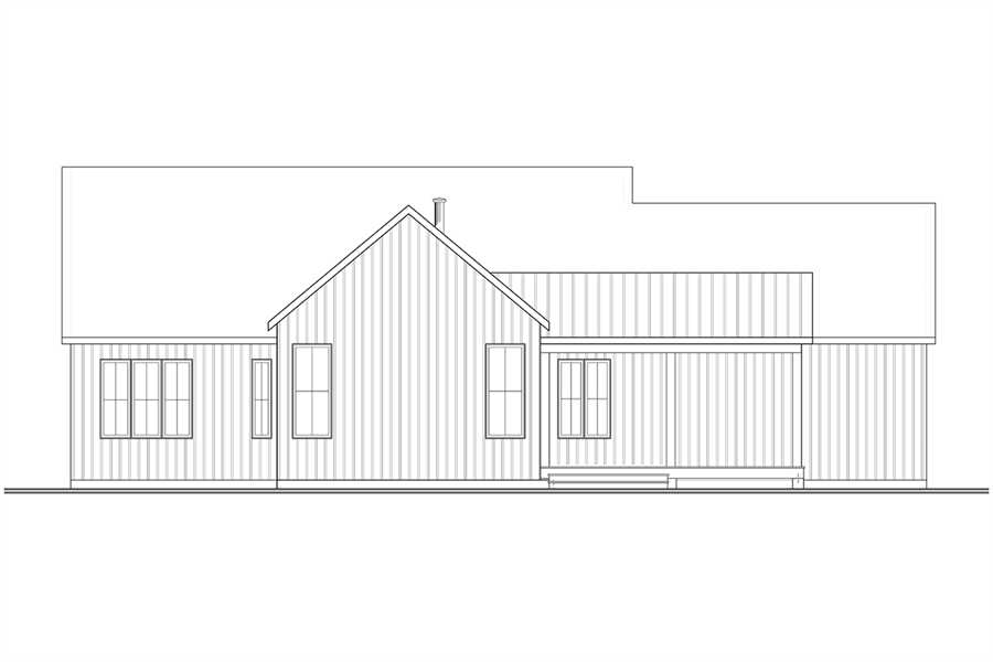 Rear Elevation image of Maple Way House Plan