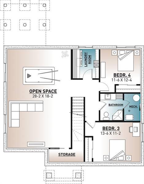 Basement image of Barrington 4 House Plan