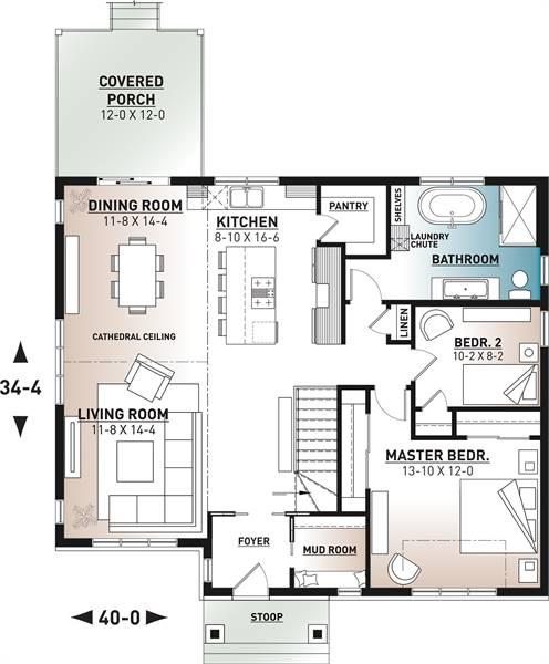 1st floor plan image of Barrington 4 House Plan