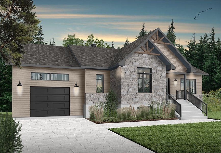 Front image of Aspen Creek 2 House Plan