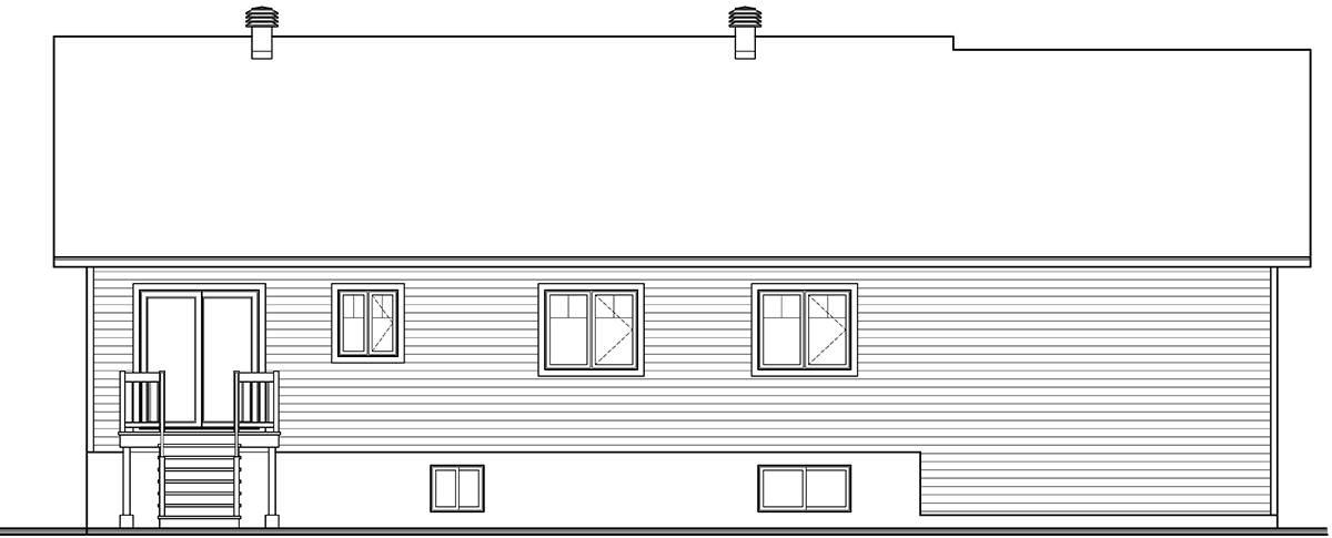 Rear Elevation image of Aspen Creek 2 House Plan