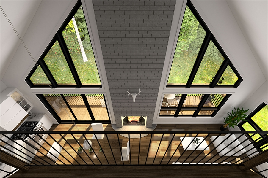 Mezzanine image of The Skybridge 3 House Plan