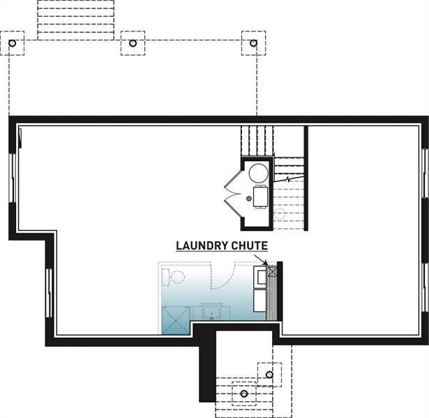 Basement image of Magnolia 3 House Plan