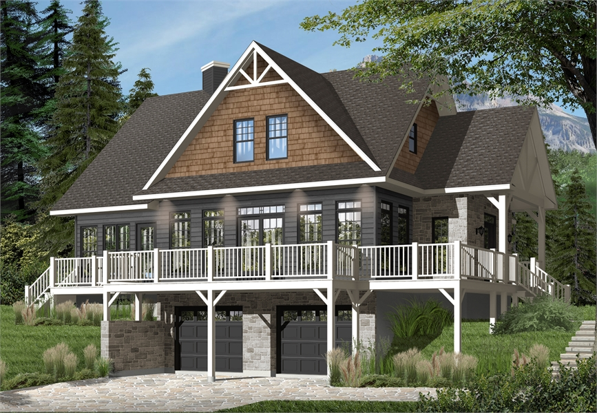 Front image of The Pocono 4 House Plan