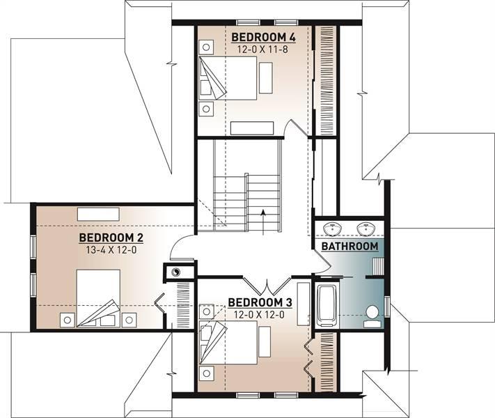2nd Floor Plan image of The Pocono 4 House Plan