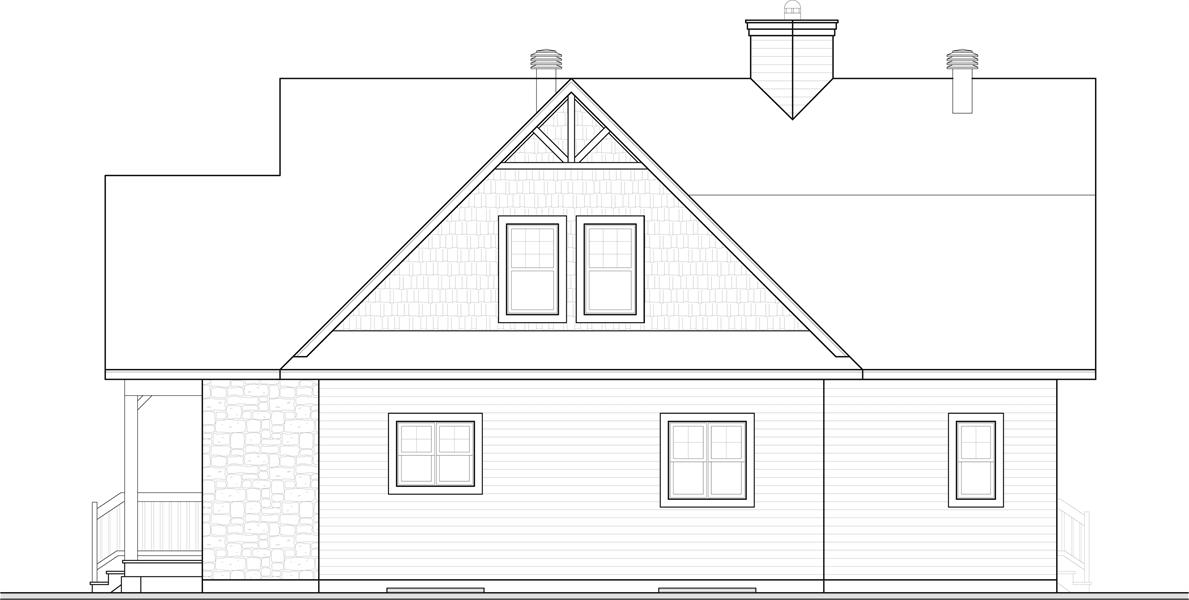Rear Elevation image of The Pocono 4 House Plan