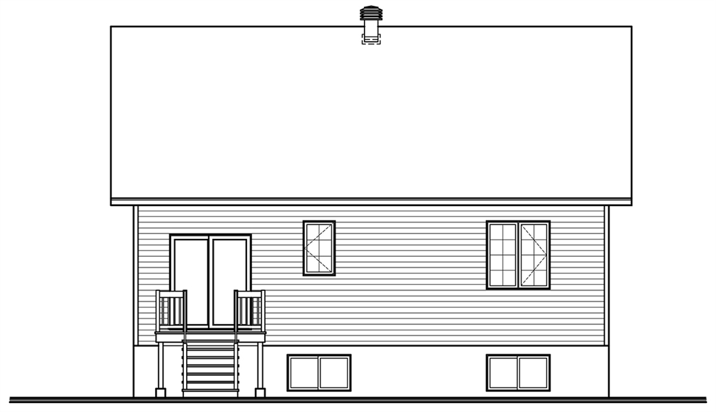 Rear image of Kimiko House Plan