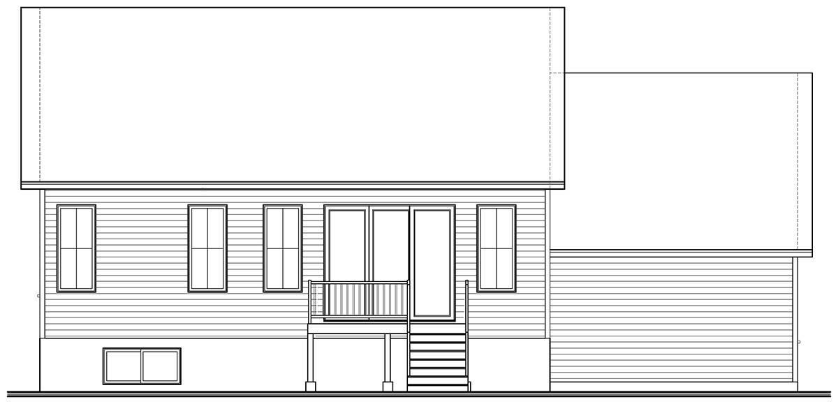 Rear image of Nordika 2 House Plan