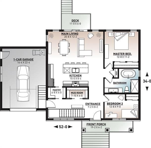 1st Floor Plan image of Nordika 2 House Plan