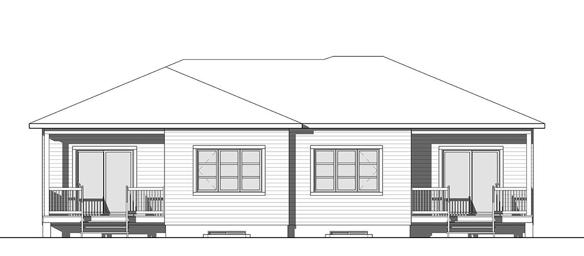 Rear image of Furgeson House Plan