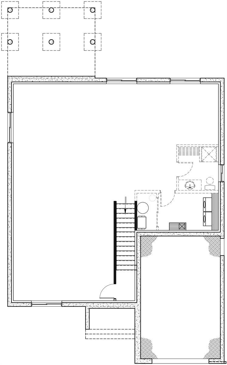 Basement Floor image of Urban Valley III House Plan