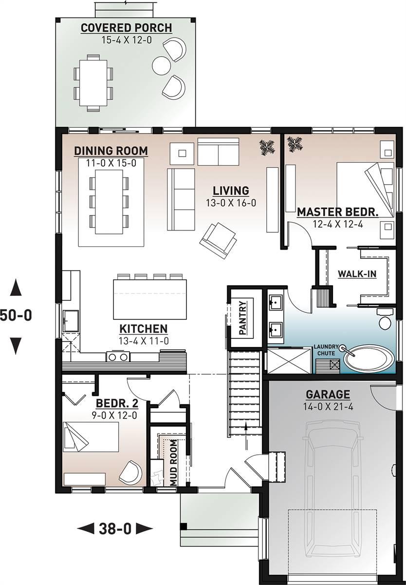 Main Floor image of Urban Valley III House Plan