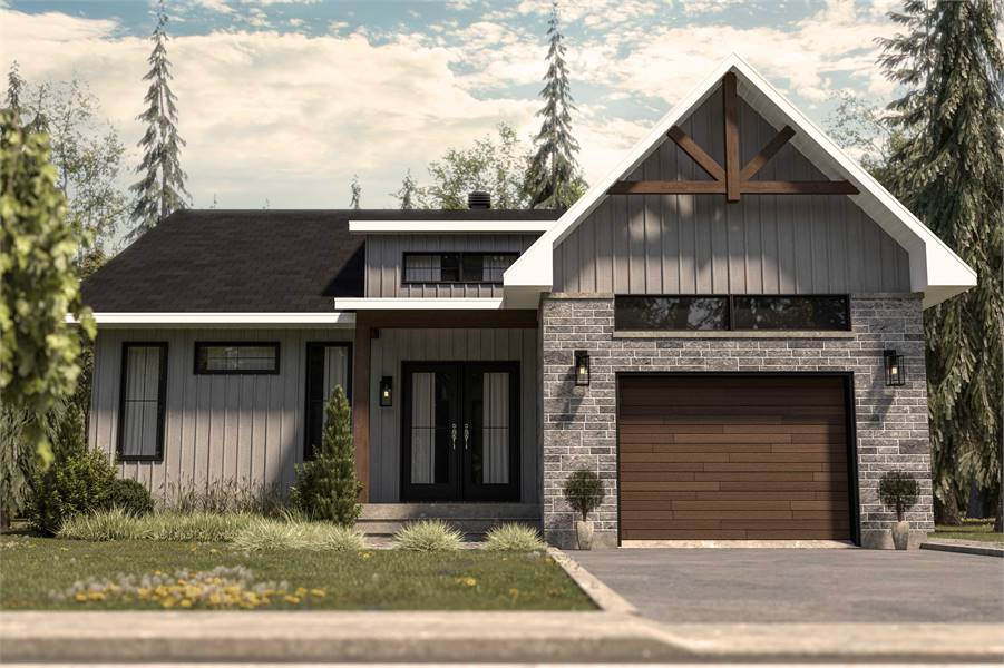 Front View image of Urban Valley III House Plan