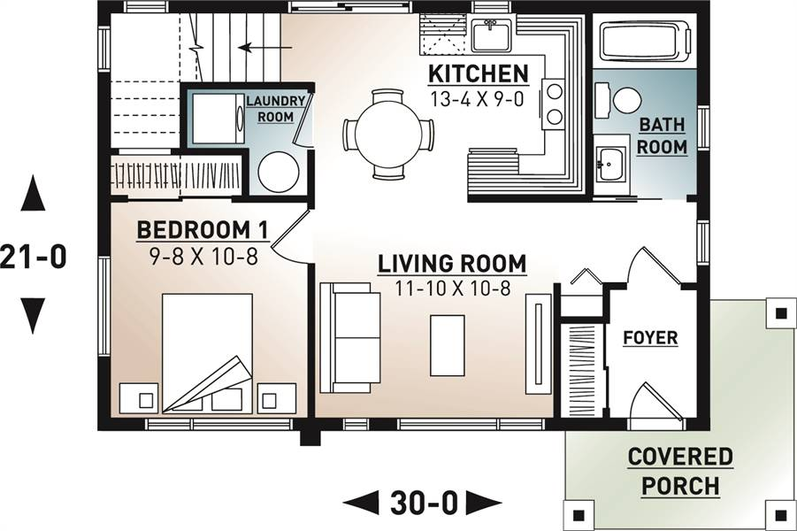 Contemporary House Plan with 2 Bedrooms and 2.5 Baths ...