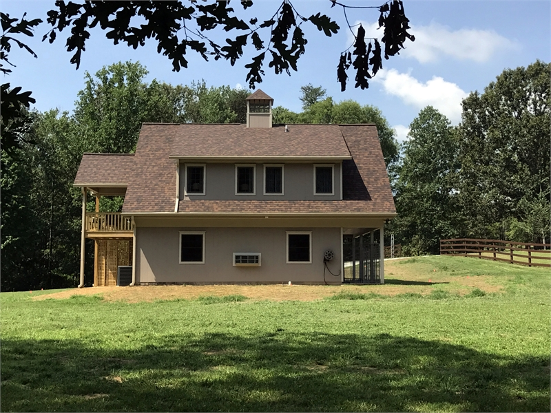 Rear Photo by DFD House Plans