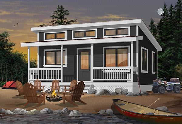 House Plan 1492: Fishing Lodge with a Screw Pile Foundation