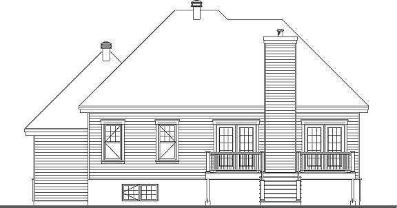 Rear Elevation image of Foxwood 2 House Plan