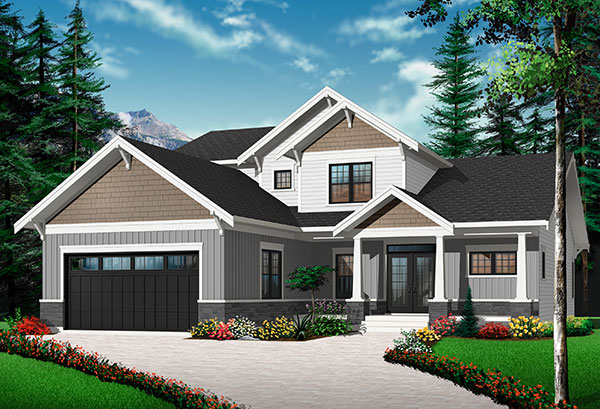Front Exterior image of Anniston 2 House Plan