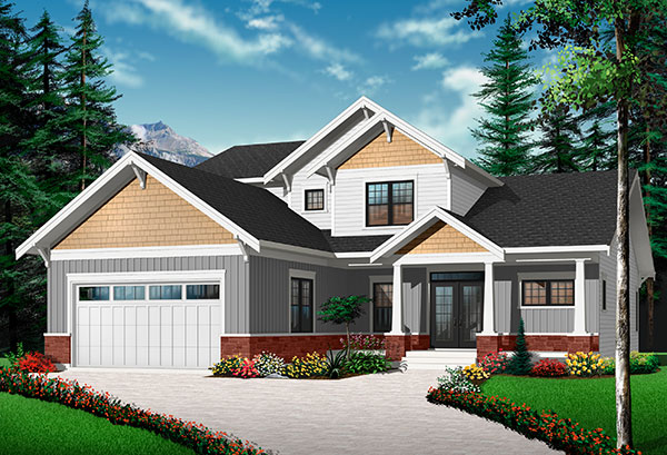 Option 2 Front image of Anniston 2 House Plan