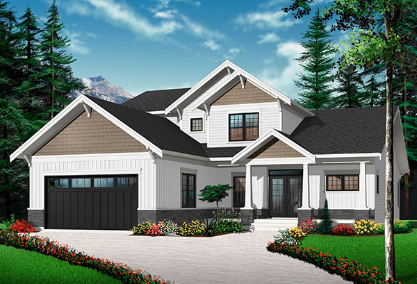 Option 3 Front image of Anniston 2 House Plan