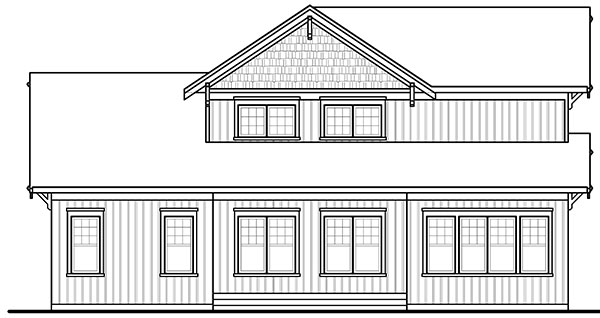 Rear image of Anniston 2 House Plan