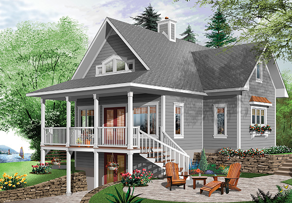 Rear view image of Beautiful Vistas House Plan