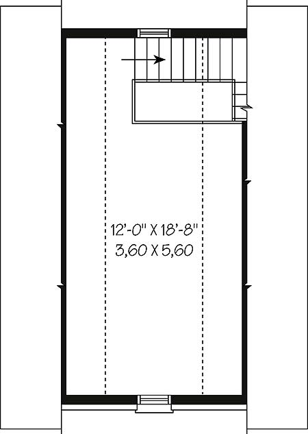 Second level by DFD House Plans