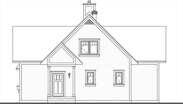 Front image of Beautiful Vistas House Plan