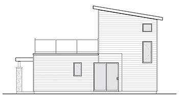Rear Elevation image of Joshua House Plan