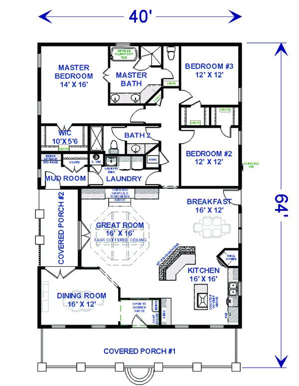 Floor Plan image of McHenry Rush House Plan
