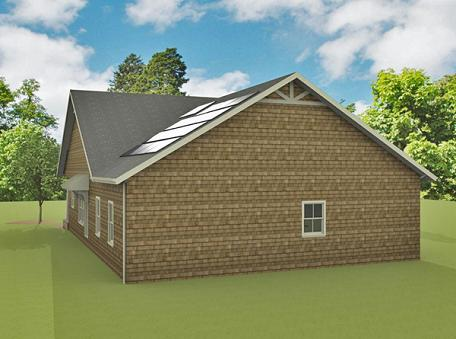 Rear Rendering image of McHenry Rush House Plan