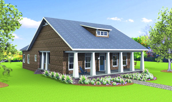 FRONT RENDERING image of McHenry Rush House Plan
