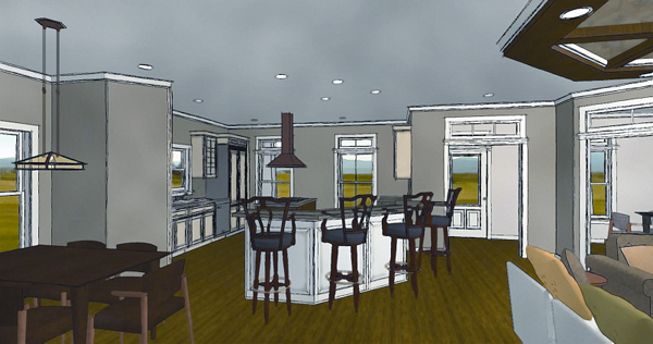 inside view 2 by DFD House Plans
