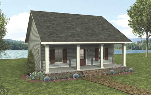 . Cottage House Plan with 2 Bedrooms and 1 5 Baths   Plan 3147