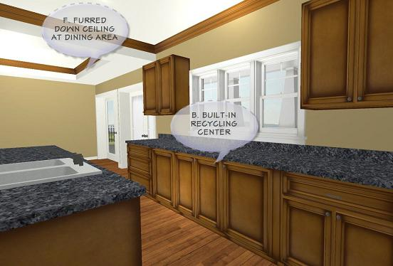 Kitchen 2 image of Rustic Splendor House Plan