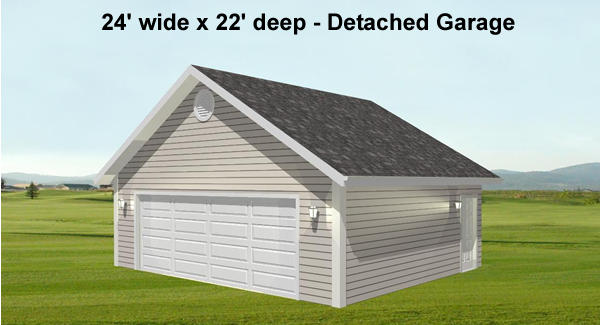Detached Garage View by DFD House Plans