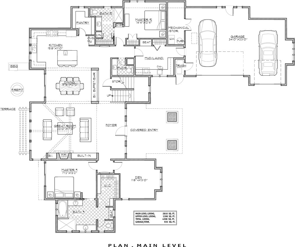 Home Design Ideas Floor Plans: Craftsman House Plan With 4 Bedrooms And 4.5 Baths