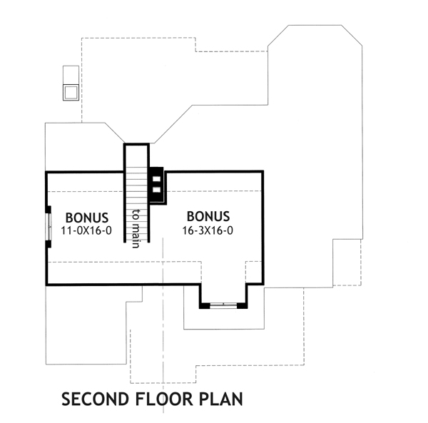 Second Floor Plan image of Merveille Vivante Small House Plan