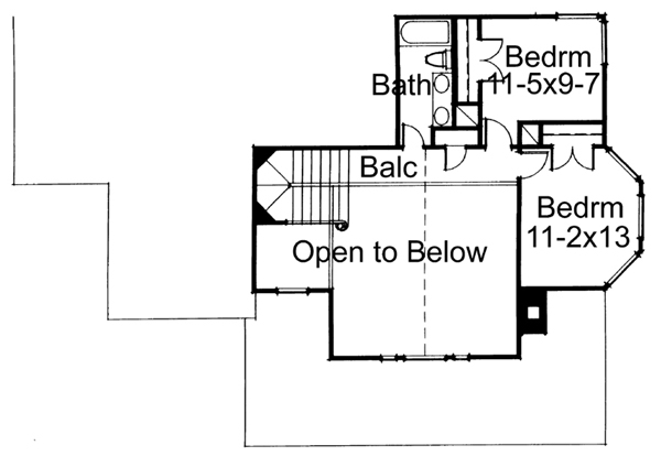 Second Floor Plan image of The Victoria House Plan