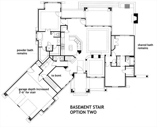 Basement Stair Opt 2 by DFD House Plans