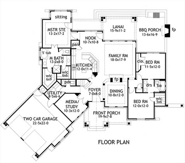 First Floor Plan image of L'Attesa di Vita House Plan