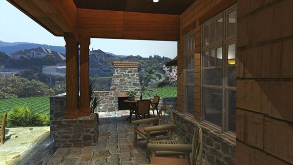 Rendering - Back Porch