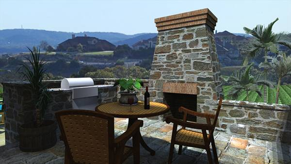 Rendering - BBQ Patio