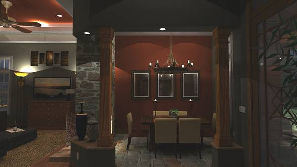 Interiors - Foyer to Dining by DFD House Plans