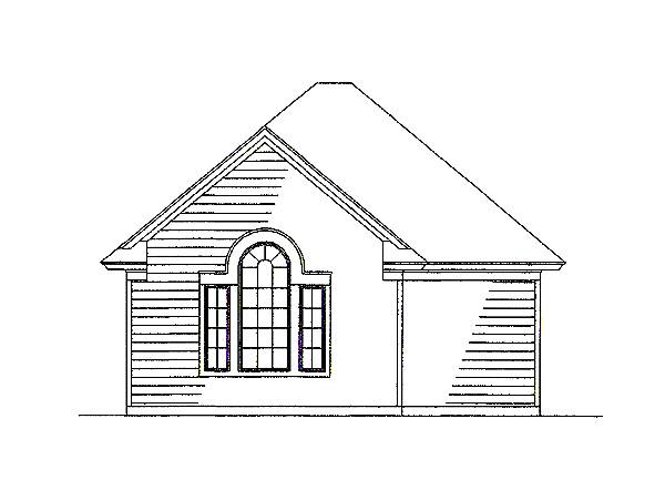 Detached Garage Elevation by DFD House Plans